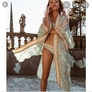 NWT Spell and the gypsy Vintage Turquoise robe